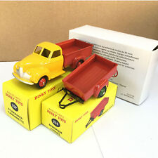 MINIATURES 1:43 DINKY TOYS 25P STUDEBAKER CAMIONNETTE & 25S REMORQUE 2 ROUES