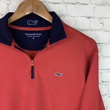 Men's Vineyard Vines (S) Rose Color 1/4 Zip Pima Cotton Pullover Sweater