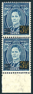 KGVI 3½d 1941 surcharge pair, Immaculate MNH  • FREE POST •