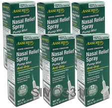Lot of 6 Assured Severe Nasal Spray Oxymetazoline HCI 12 Hour Relief