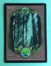 MTG MAGIC Carte LAND FOREST Full Art Basic Forêt Terrain de Base Ed. UNGLUED