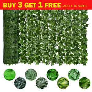 Artificial Hedge Ivy Leaf Garden Fence Roll Privacy Screen Wall Cover Decor New