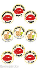 SAFETY TAT KISSES Kids Temporary Tattoo First Day of School Gift Ease Anxiety