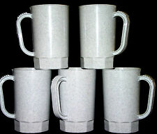 75-1 PINT GRANITE  PLASTIC BEER MUGS  STEINS MFG. USA  LEAD FREE NO BPA