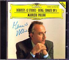 Maurizio POLLINI Signiert DEBUSSY 12 Etudes BERG Piano Sonata CD Etude Book 1 2