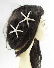 2 x Elfenbein Seestern Haarklammern Meerjungfrau Seestern Kostüm Ariel 2933