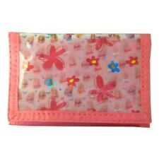 New! Barbie Doll & Flower Kids Trifold Wallet Pink Purse for Girls  3-D