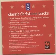CLASSIC CHRISTMAS TRACKS - PROMO CD (2002) FRANK SINATRA, DEAN MARTIN ETC