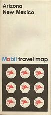 1972 MOBIL OIL Gas Station Road Map ARIZONA NEW MEXICO Route 66 Phoenix Santa Fe