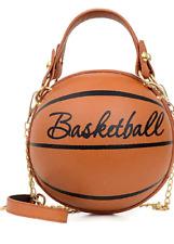 Womens Basketball Bag Circle Purse Shoulder Messenger Bag Tote Mini Cross Body