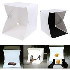 LED Light Room Mini Photo Studio Photography Lighting Tent Cube Box 2 Backdrop