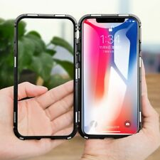 Apple iPhone XS MAX 6 7 8 Plus slim cover tempered glass metal 360 case Magnetic