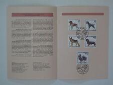(95j19) Bund Erinnerungsblatt 1995 mit ESST Mi.Nr. 1797-1801 Jugend Hunde