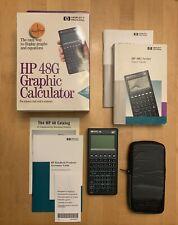 Vintage Hewlett Packard Hp 48G Graphing Calculator - w/ Box, Books & Case