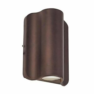 Bronze Outdoor Integrated LED Wall Mount Dual Sided Pocket Lantern Light
