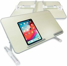 Bed Table Laptop Adjustable Stand Portable Standing Tray with Foldable Legs