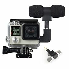 3.5mm External Microphone Mic Adapter Protective Frame Case For GoPro Hero 4 3+