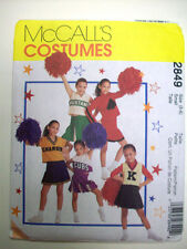 Child Cheerleader Costume Pattern 2849  Size 5 6 small