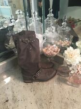 Ladies Liberty Gray Cowboy Studded boots 7