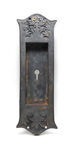 Cast Iron Recessed Ornate Pocket Plate