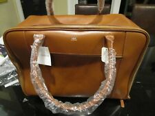 Mark and Graham  Leather Weekender bag mono  New