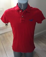 Authentic Hollister California 1922 Mens Red Small Polo T Shirt EXC COND