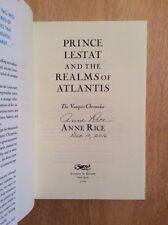 SIGNED - Anne Rice Vampire Chronicles: Prince Lestat  Realms of Atlantis HC Pic