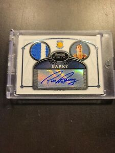 RICK BARRY 2007 BOWMAN STERLING AUTO 2 COLOR PATCH JERSEY GOLDEN STATE WARRIORS