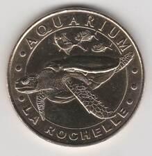 -- 2006 B COIN TOKEN JETON MONNAIE DE PARIS -17 000 AQUARIUM LA ROCHELLE TORTUE