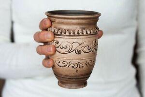 Handmade ceramic mug no Handle cup Espresso Pottery Shot glass Rustic
