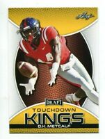 "D.K. METCALF 2019 LEAF ""1ST EVER PRINTED"" TOUCHDOWN KINGS ""GOLD"" ROOKIE CARD!"