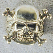 SKULL X BONE BIKER RING BR28 scull and cross bones with hat mens jewelry silver