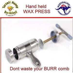 HAND HELD MINI WAX PRESS    BEE KEEPING   Don't waste your burr comb   WAX PRESS