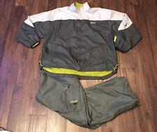 Vintage 90s STARTER Tracksuit Jump Suit Retro Windbreaker Jacket Pants 2 Pc XL