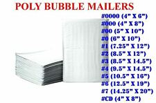 50100200500 Poly Bubble Mailers Padded Envelope Shipping Bags Seal Any Size