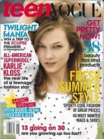 Teen Vogue Magazine Karlie Kloss Summer Style Music Special Beauty Products 2010