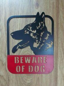 Bewere of dog metal sign German Shepherd Warning steel Plaques