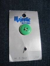 ANT/VGE MAJESTIC PARTIAL CARD 2 TONE GREEN LAMINATE LUC/PLA BUTTONS QTY 1