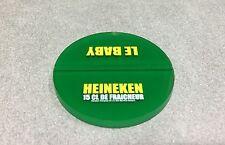 SOUS BOCK PVC VERT BIERE BEER BIER HEINEKEN LE BABY 15 CL DE FRAICHEUR N°1 RARE