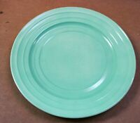"Hazel Atlas Depression Glass Green Pastel Moderntone 9"" Dinner Plate 5 Available"