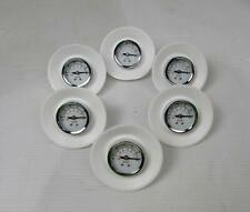 Lot of 6 Allied -100-0 kPa -30-0 inHg Vacuum Gauges 77-80-0572