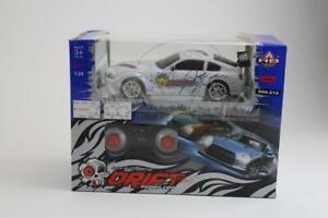 New! Drift Racing King Drift Super Car 4WD Remote Control White 1:24