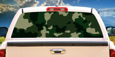 GREEN CAMO Rear Window Graphic back truck decal suv view thru vinyl