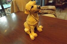 Sculpture Abstract Art Dog Puppy signed, 2000
