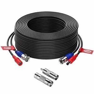 100FT Camara Cable BNC Video Wire Cord De Seguridad Para CCTV DVR +Adaptador RCA