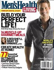 Men's Health Living magazine Muscle gourmet meals Home wealth Workouts Food