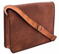 Leather Vintage Messenger Man Business Laptop Brown Briefcase Women Satchel Bag