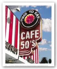 Cafe 50's Larry Grossman Art Print 10x8