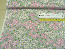 Baumwoll Stoff • Moda • Dogwood Trail II • steel flowers • Quilt Stoff • 0,5m