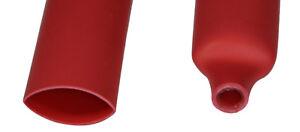 "DW1S3X-15.0 Dual Wall 3:1 Heat Shrink Tubing 15mm (5/8"") - RED, 1 Foot, Qty: 5"